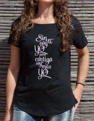 Camiseta buentrato sin ti soy yo pero contigo soy mas yo