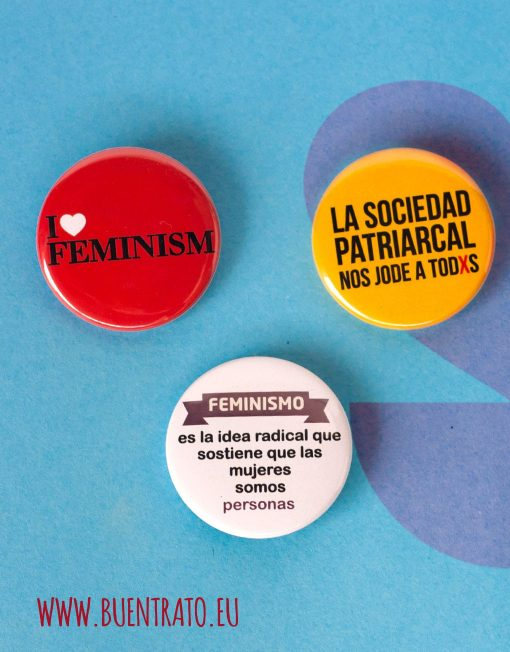 Pack chapas buentrato feminismo